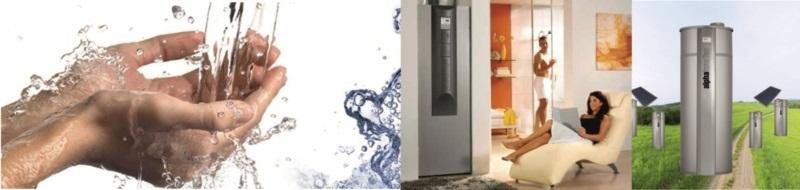 Aquecimento de água quente sanitaria