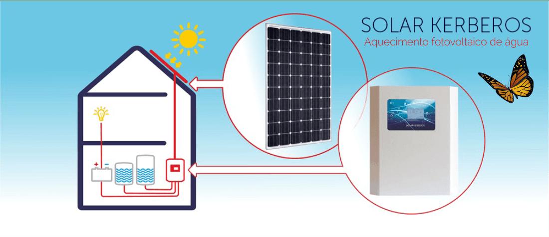 aquecimento fotovoltaico de agua conjunto --