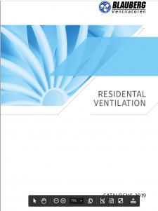Ventilação residencial e comercial 2020. Gudenergy.Blauberg