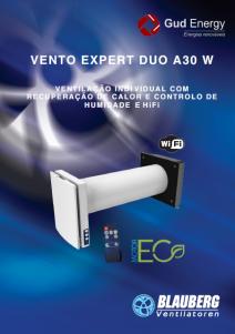 Ventilação residencial e comercial. Vento expert Duo A30 W